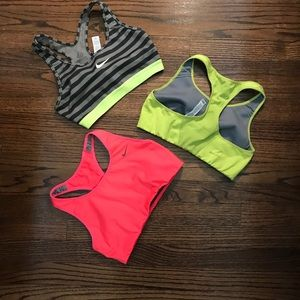 Three Nike Dri- Fit Sport Bras